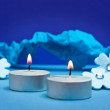 Blue background for festive occasions — Stock Photo