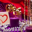 Stock Photo: Noble and luxurious background with candles and pearls