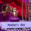 Festive background with text mothers day — Stock Photo