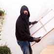 Burglar steals a picture — Stock Photo