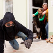 Burglars flee from the crime scene — Stock Photo