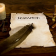 Document with the word Testament — Stock Photo