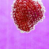Bubbly strawberry — Stock Photo