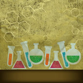 Retro chemistry background — Stock Photo