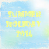 Summer holiday poster — Stock Photo