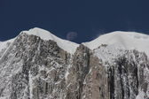Moon in the Mountain Alpes — Stock Photo