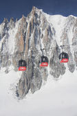 Chamonix - Cable Car - Mont Blanc — Stock Photo