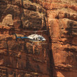 Helicopter ride in Havasupai Tribe - Grand Canyon — Stock Photo #34894687