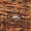 Helicopter ride in Havasupai Tribe - Grand Canyon — Stock Photo #34894919