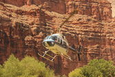 Helicopter ride in Havasupai Tribe - Grand Canyon — Stock Photo