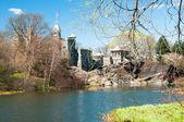 Castelo no central park — Fotografia Stock