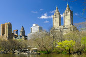 Skyscrapers in Central Park — Stock Photo