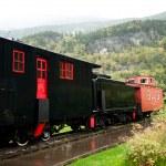 Черный поезд — Стоковое фото