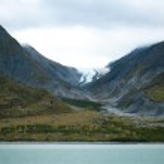 Glacier carved mountain — Stock Photo