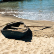 Boat on the sand — Stock Photo