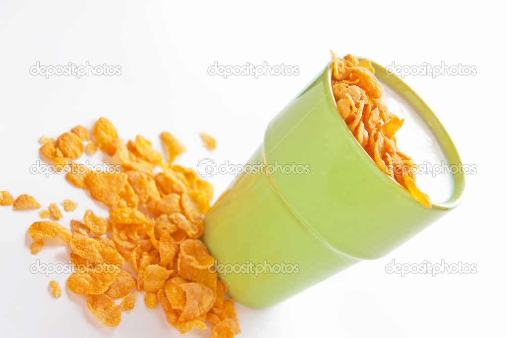 Fresh homemade yogurt served with cereals — Stock Photo #15854975