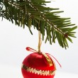 Red bauble - Stock Photo