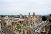 View over the historic university of Oxford, England — Stock Photo