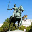 Jeanne D'Arc statue in Paris — Stock Photo