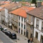 santiago de compostela eski binalar ile sokak — Stok fotoğraf