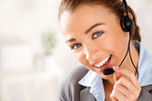 Sassy Customer service agent — Stock Photo