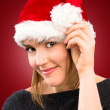 A sexy girl in Santa Hat — Stock Photo