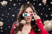 3D cinema experience — Stock Photo