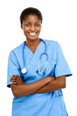 Confident African American female doctor — Foto Stock