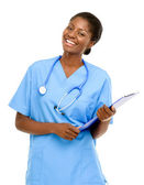 Confident African American female doctor — Stock Photo