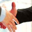 Businessman shaking hands handshake partnership high definition video — Stock Video