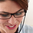 Stock Video: Pretty receptionist