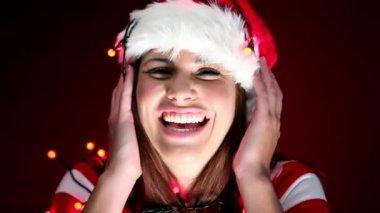 Happy christmas girl — Stock Video