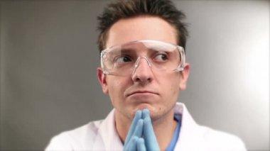 Mad scientist — Stock Video