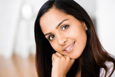 Beautiful Indian woman portrait happy smiling — Stock Photo