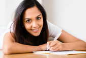 Indian woman happy student — Stock Photo