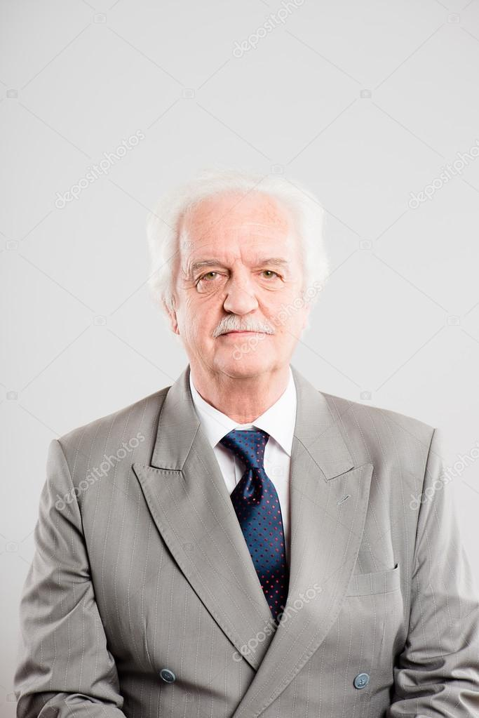Funny man portrait real high definition blue background  Stock Photo #19481731