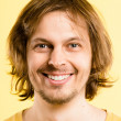 Stock fotografie: Happy mportrait real high definition yellow background