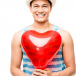 Latino lover man valentines day heart love balloon — Stock Photo #27403307