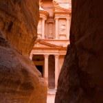 The treasury facade in Petra — Stock Photo #12861175