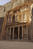Treasury facade in Petra — Stock Photo