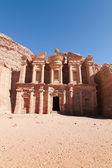 Monastery at Petra — Stock Photo