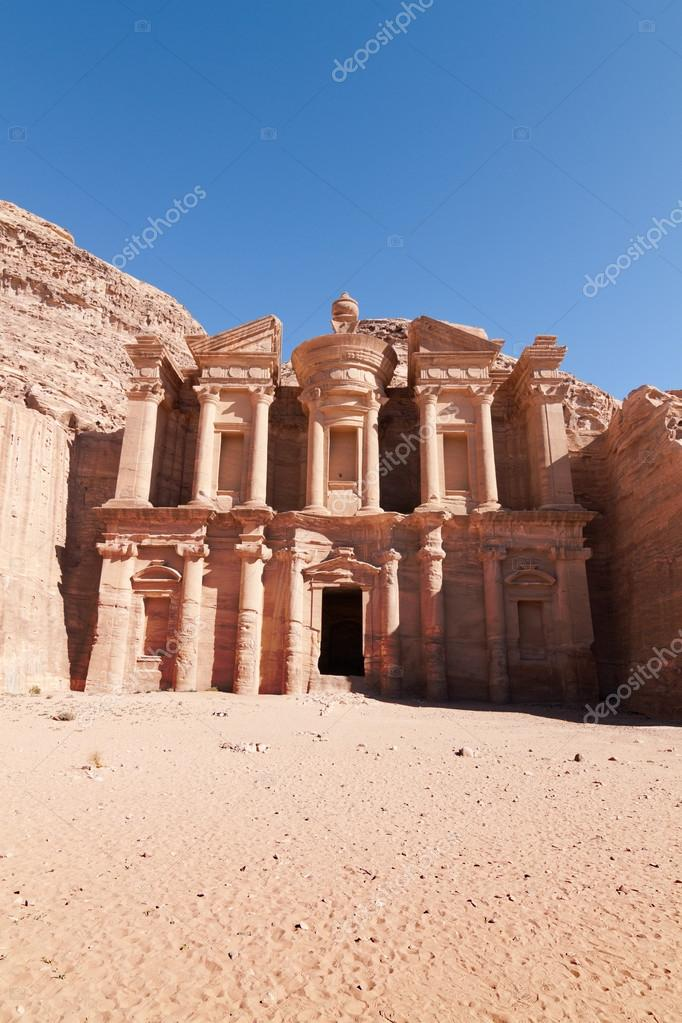 Facade of the Monastery at Petra, Jordan — Stock Photo #15310597