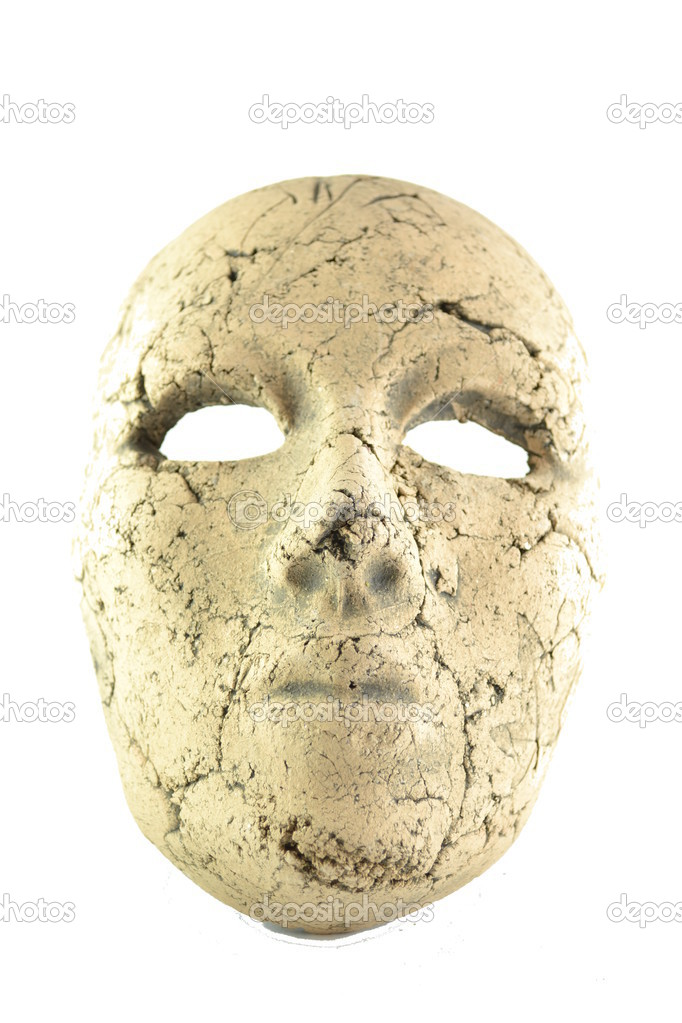 Mask ceramic isolated on white background. — Stock Photo #13220598