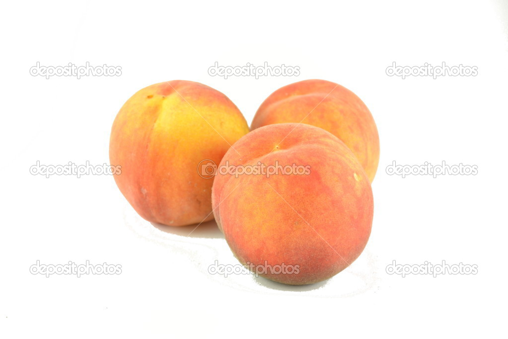 Fresh peach isolated on white background. — Stock Photo #13257881