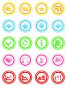 Set di icone — Vettoriale Stock