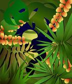 Tropical snake — Stock Vector