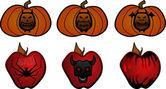 Halloween clipart — Stock Vector