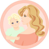Mother and child — Stock Vector