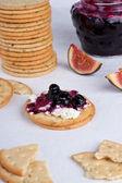 Creamed cracker — Stock Photo