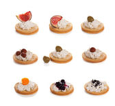 Chesse canapes — Foto Stock